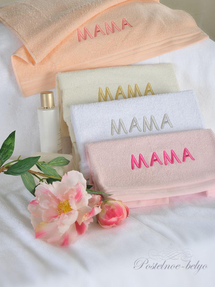 Полотенце с вышивкой мама